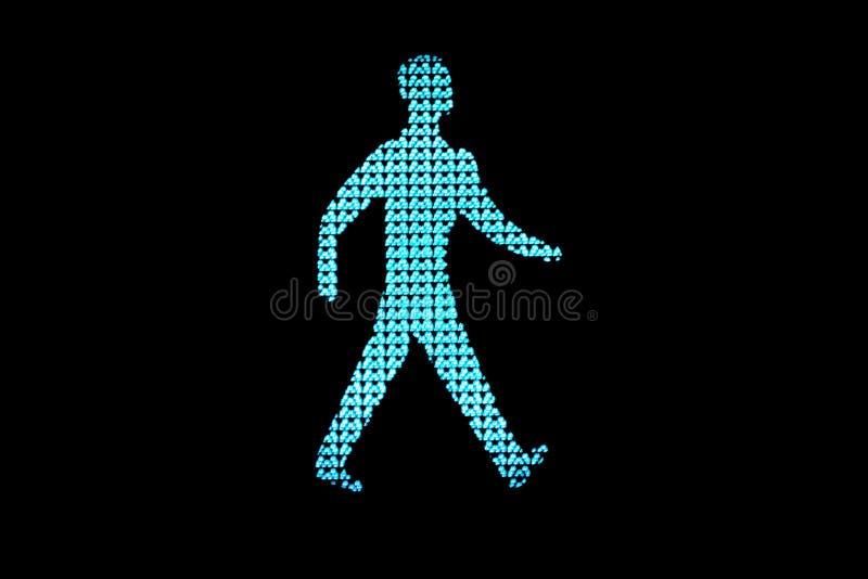 движение человека зеленого света стоковая фотография rf