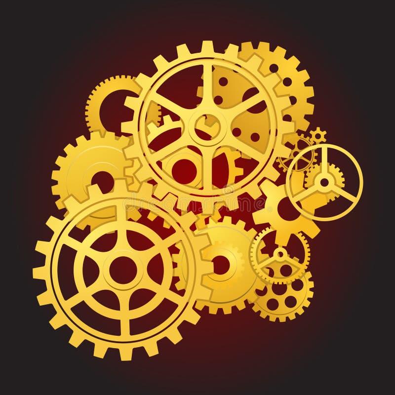 движение шестерен иллюстрация вектора