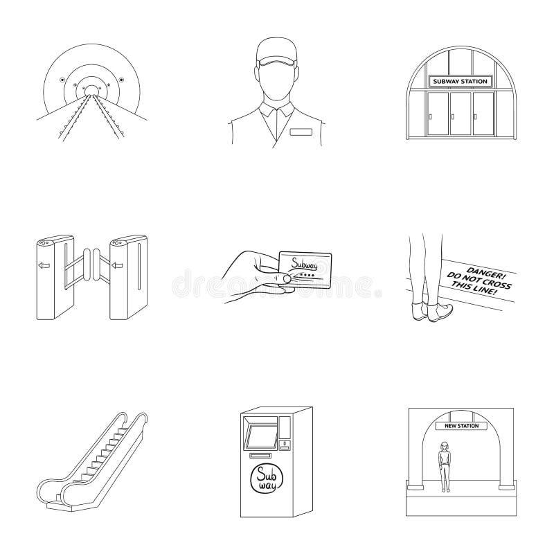 Движение, электрический переход и другой значок сети в стиле плана Атрибуты, публика, середины, значки в собрании комплекта бесплатная иллюстрация