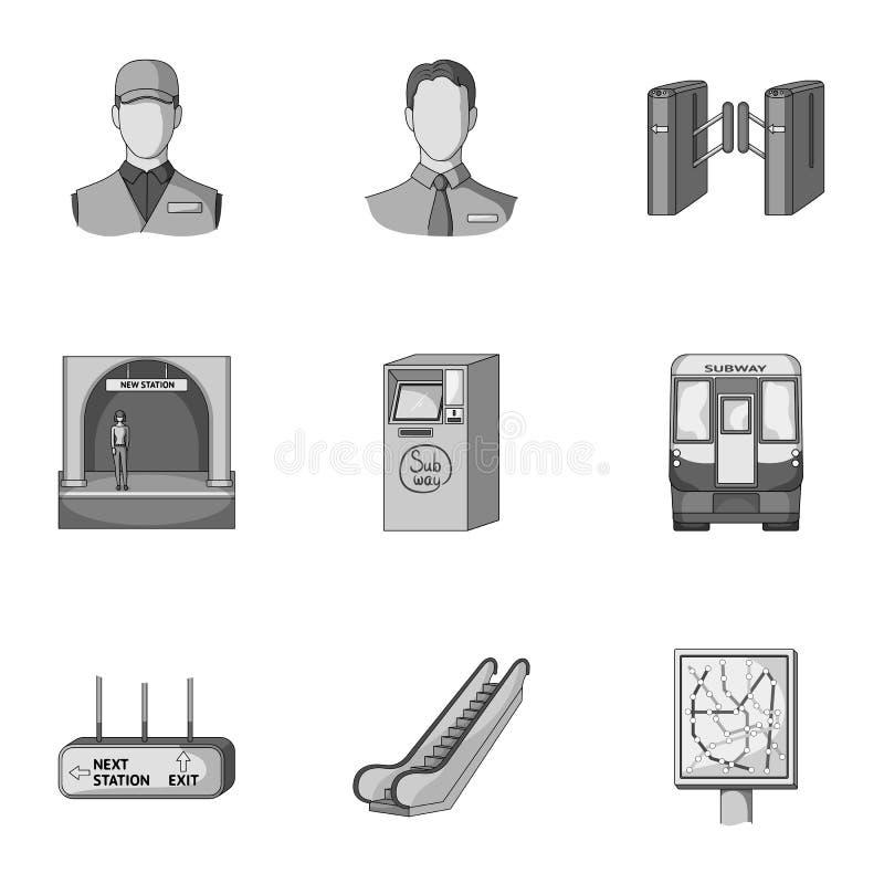 Движение, электрический переход и другой значок сети в monochrome стиле Атрибуты, публика, середины, значки в собрании комплекта бесплатная иллюстрация