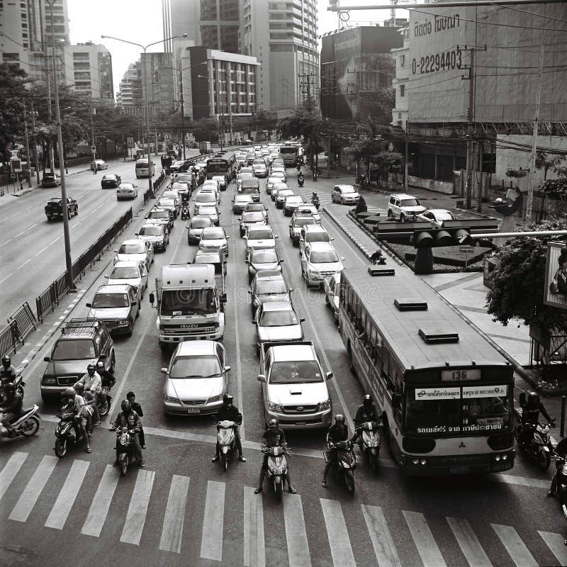 движение bangkok стоковое фото rf