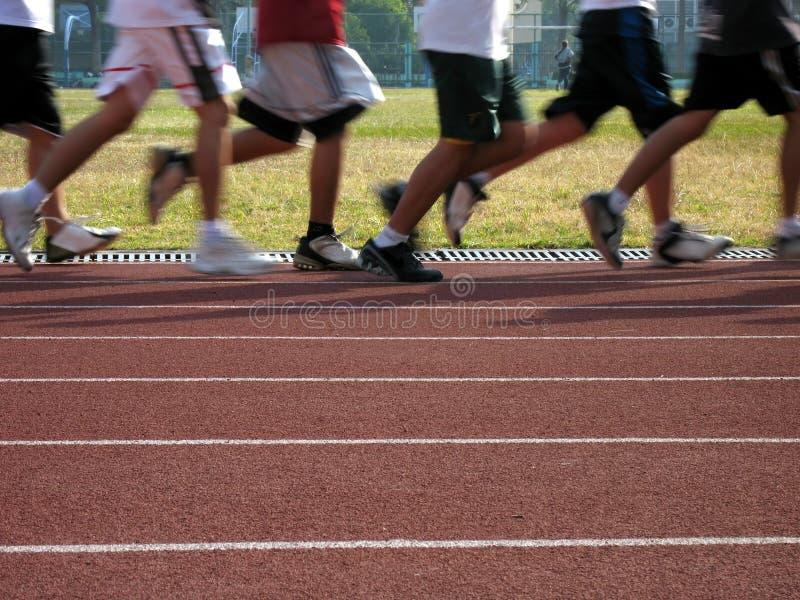 движение joggers стоковая фотография