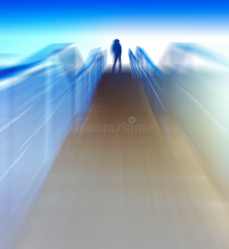 Движение ru задней части человека вертикальной футуристической утечки света цвета живое стоковые фото
