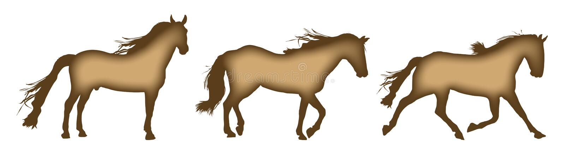 движения лошади иллюстрация штока