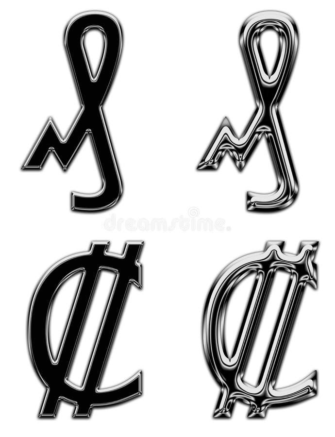 Двоеточие банка денег символа валюты металла немецкое стоковое изображение