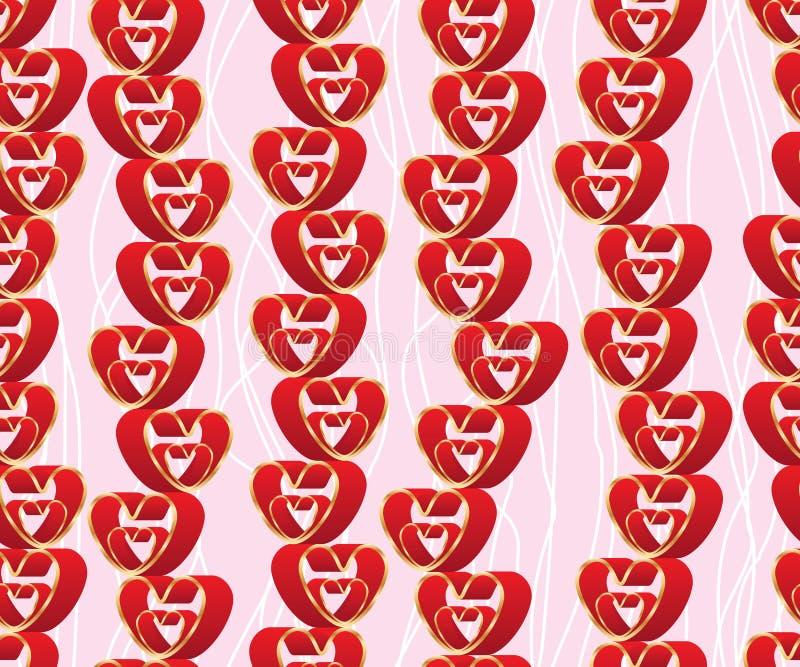 Двойная линия картина стойки влюбленности оформления безшовная иллюстрация вектора
