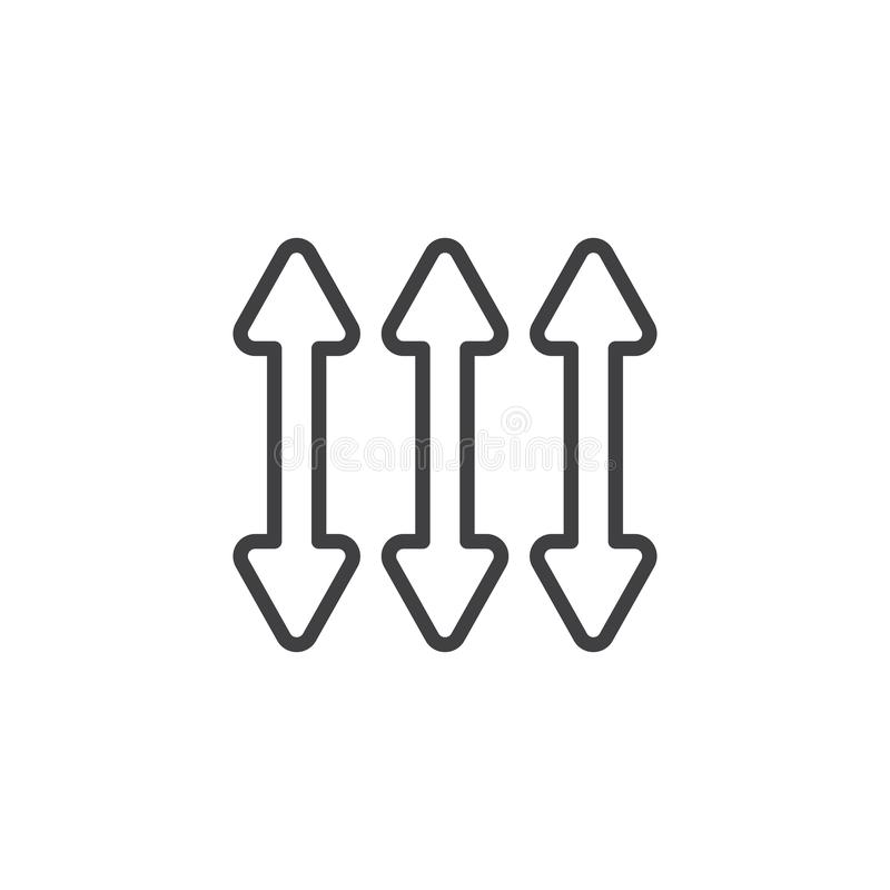 Двойная линия значок стрелки 3 бесплатная иллюстрация