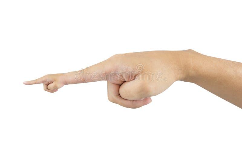 Двойная указывая рука - изолированная на белой предпосылке - путь клиппирования стоковая фотография