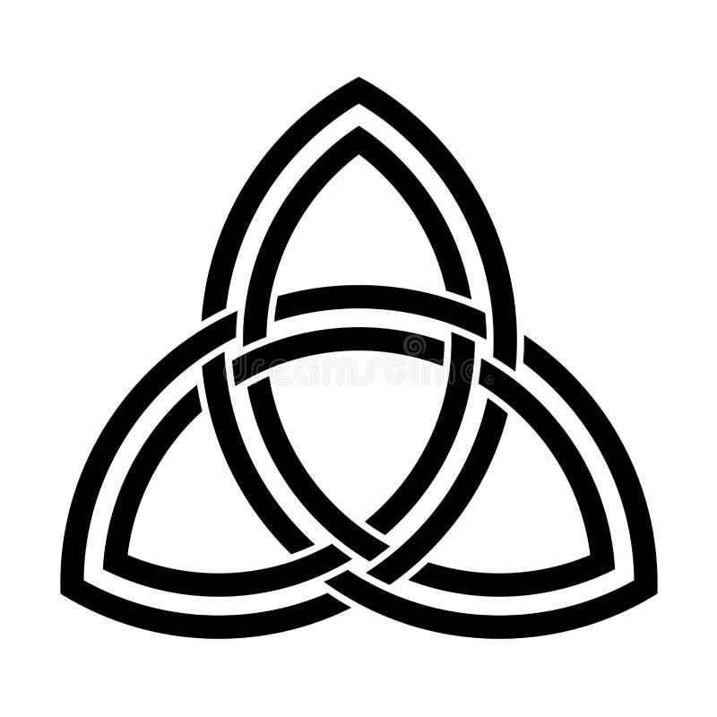 Двойное переплетенное triquetra бесплатная иллюстрация