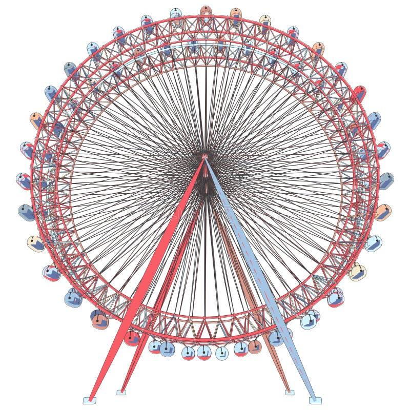 Двойной вектор иллюстрации Carousel иллюстрация штока