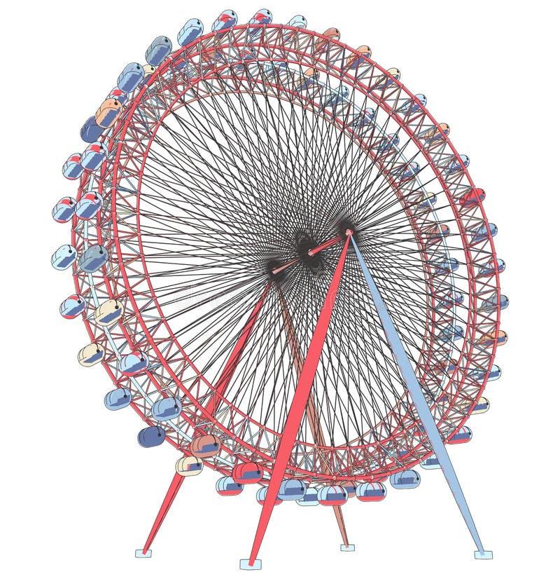 Двойной вектор иллюстрации Carousel бесплатная иллюстрация