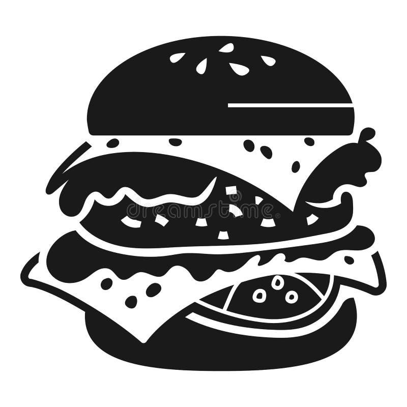 Двойной значок бургера, простой стиль иллюстрация вектора