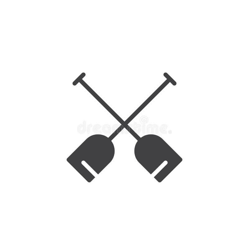 Двойной значок вектора затвора иллюстрация вектора