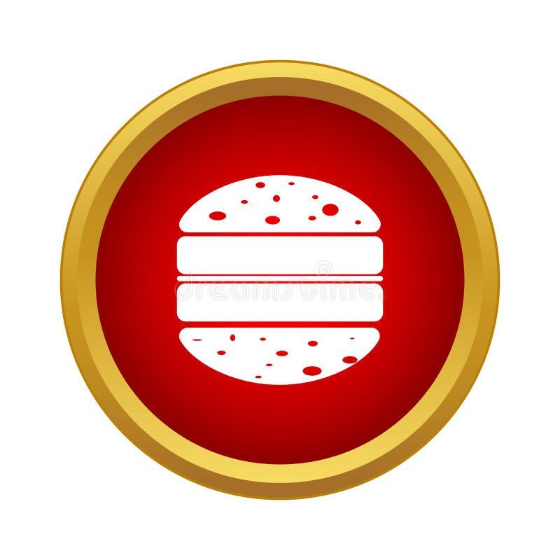 Двойной значок гамбургера в простом стиле бесплатная иллюстрация
