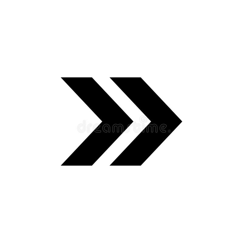 двойной значок стрелки Элемент простого значка для вебсайтов, веб-дизайна, передвижного app, графиков информации Знаки и значок f иллюстрация штока
