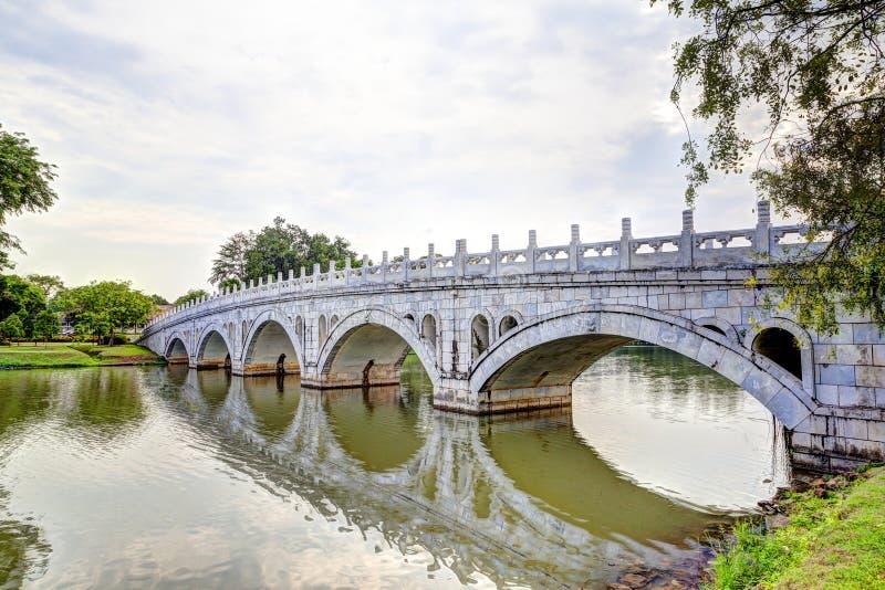 Двойной мост красоты в Jurong, Сингапуре стоковая фотография