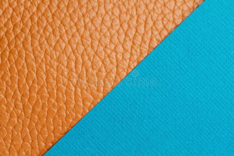 Двойный фон с цветной бумагой и текстурированной кожей стоковая фотография