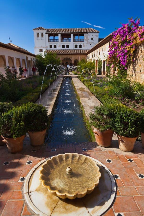 Дворец Альгамбра на Гранаде Испании стоковое фото
