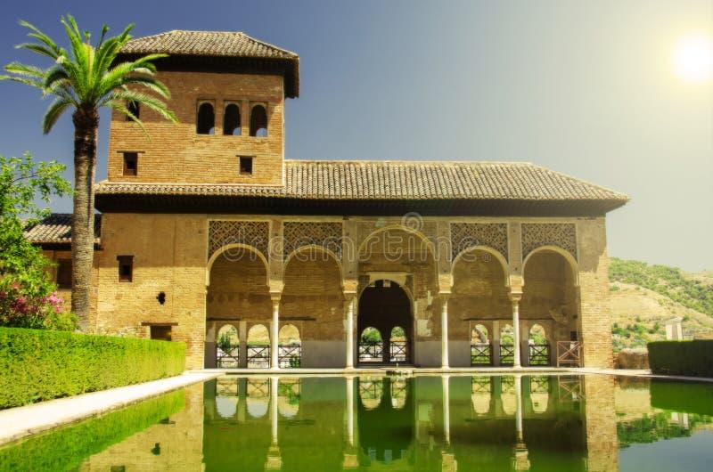 Дворец Альгамбра в Гранаде стоковая фотография
