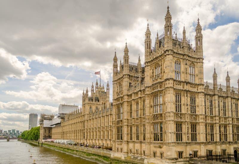Дворец Вестминстера, парламента Великобритании, Лондона стоковая фотография rf