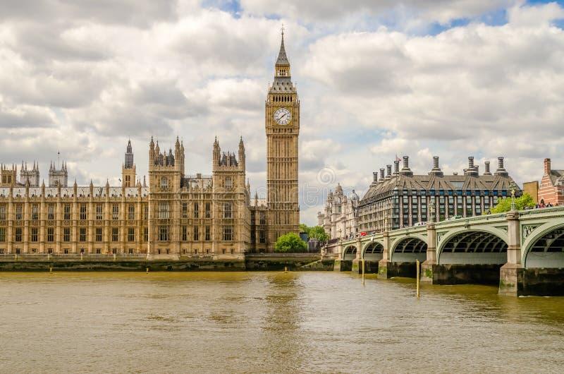 Дворец Вестминстера, парламента Великобритании, Лондона стоковое изображение