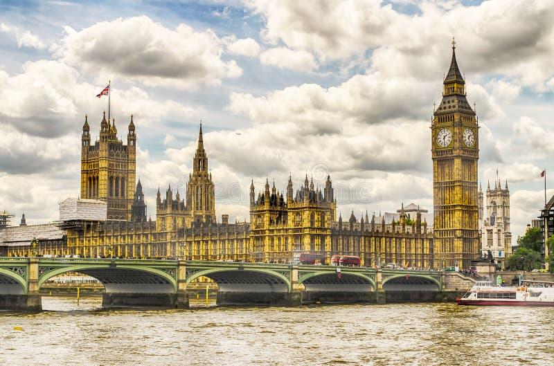Дворец Вестминстера, парламента Великобритании, Лондона стоковые фотографии rf