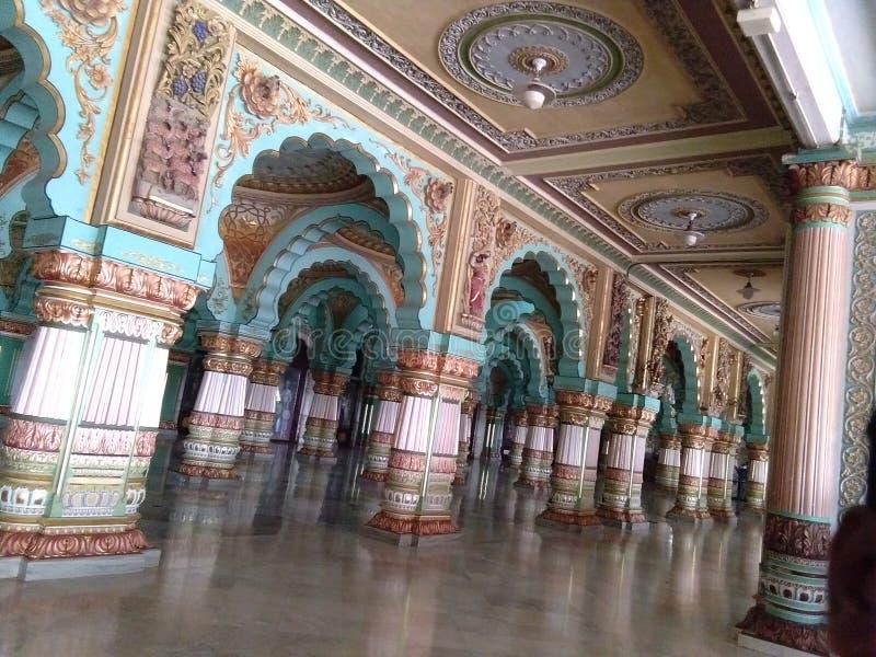 Дворец в Майсуре Karnataka Индии стоковая фотография rf