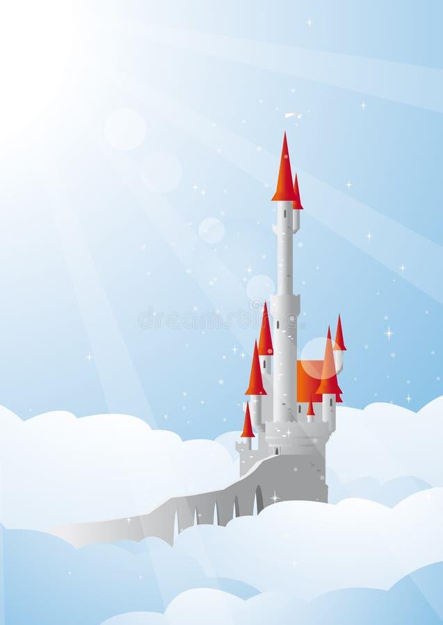 Дворец в облаках иллюстрация штока