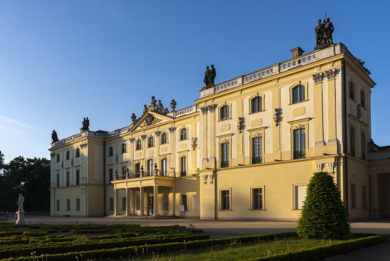 Дворец в Bialystok, историческая резиденция польского магната стоковое фото rf