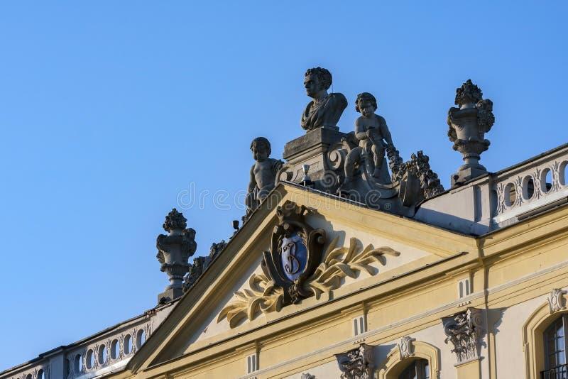 Дворец в Bialystok, историческая резиденция польского магната стоковое изображение rf
