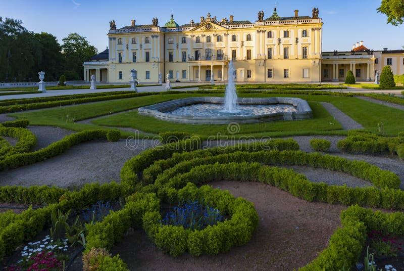 Дворец в Bialystok, историческая резиденция польского магната стоковое изображение