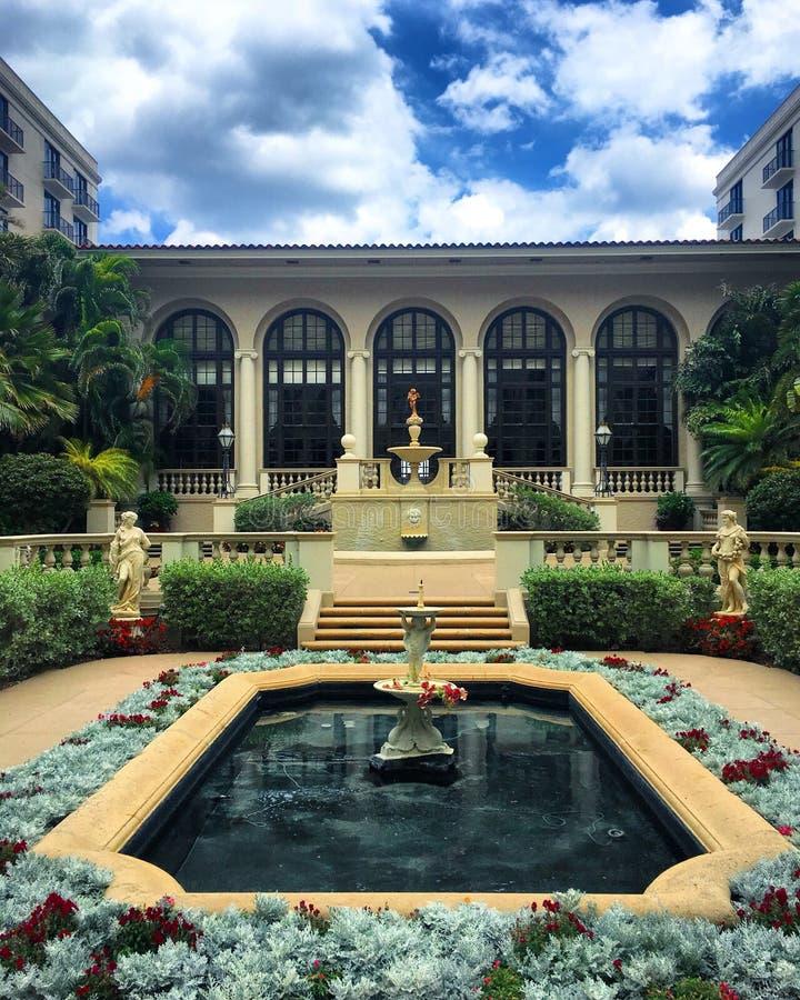Дворец в West Palm Beach стоковые изображения rf