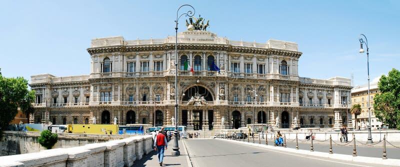 Дворец города Рима архитектуры правосудия осматривает 30-ого мая 2014 стоковое изображение
