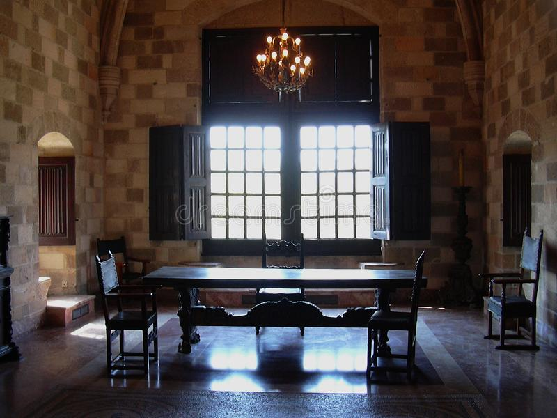 Дворец гроссмейстера рыцарей Родоса Греции стоковое фото rf