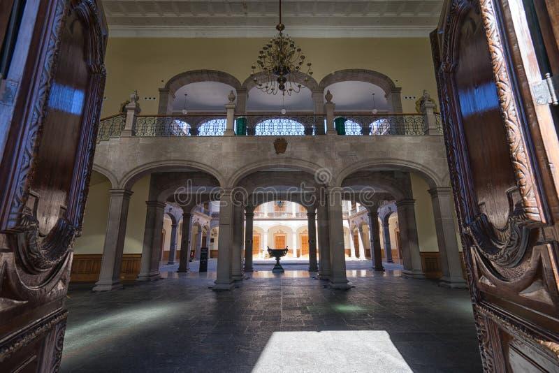 Дворец губернаторов в Монтеррее Мексике стоковая фотография rf