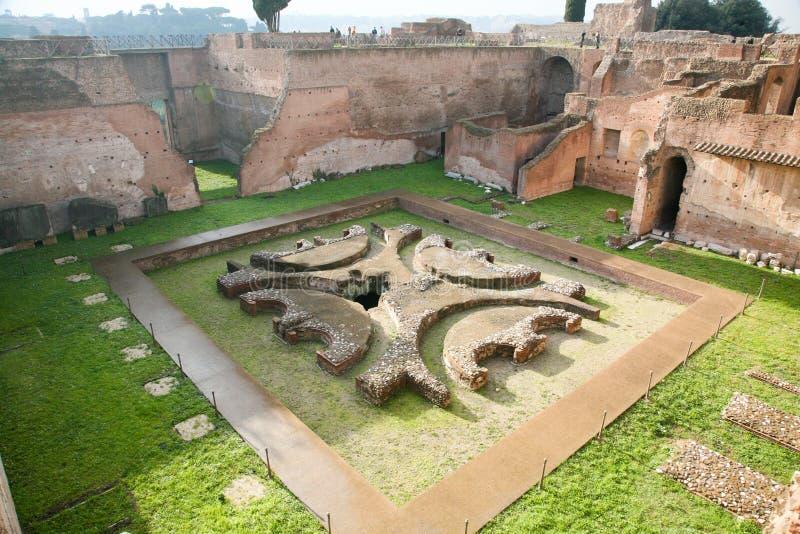 Дворец императора или дом руин Augustus в Риме стоковые фото
