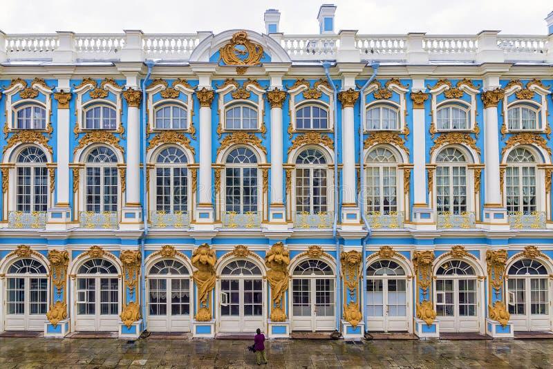 Дворец Катрина в Tsarskoye Selo, Санкт-Петербурге, России стоковая фотография rf