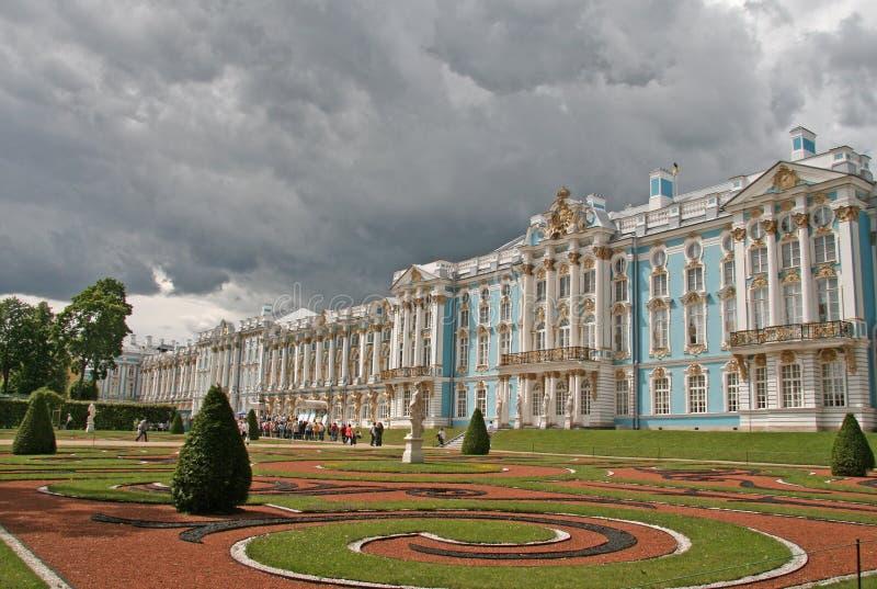 Дворец Катрина, ST ПЕТЕРБУРГ, TSARSKOYE SELO, РОССИЯ стоковые фотографии rf