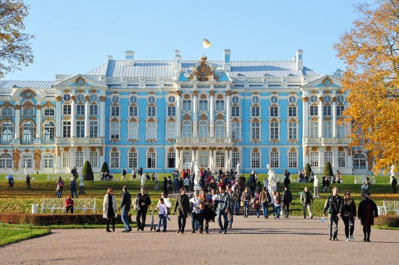 Дворец Катрин в Tsarskoye Selo около Санкт-Петербурга стоковые изображения rf
