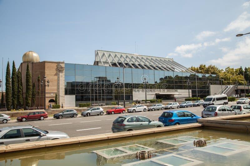 Дворец конгресса в Барселоне, Испании стоковое фото