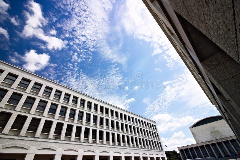 Дворец конгресса на Eur Риме стоковые изображения rf