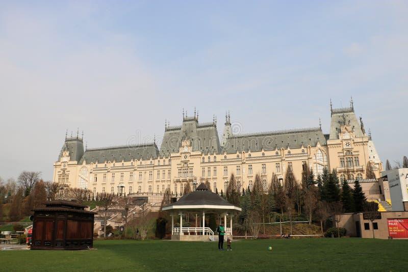 Дворец культуры в Iasi, Румынии стоковое фото rf