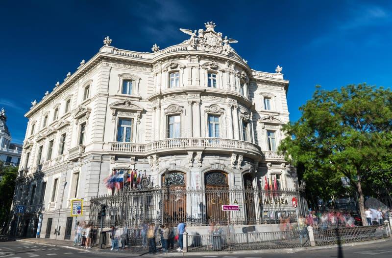 Дворец Линареса в центральном Мадриде стоковые изображения