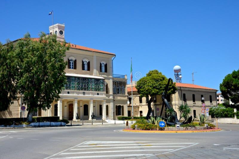 Дворец Лорд-адмирала города ` s Maddalena Ла стоковое фото