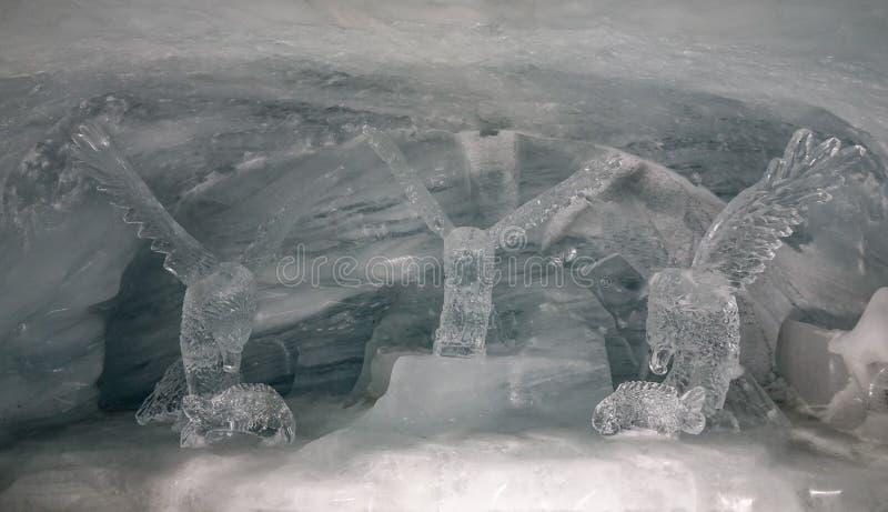 Дворец льда станции Jungfraujoch стоковая фотография