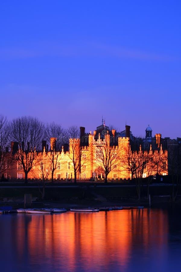 дворец ночи hampton суда стоковое фото