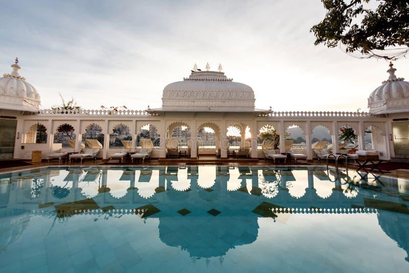 Дворец озера Taj в Udaipur стоковое фото rf