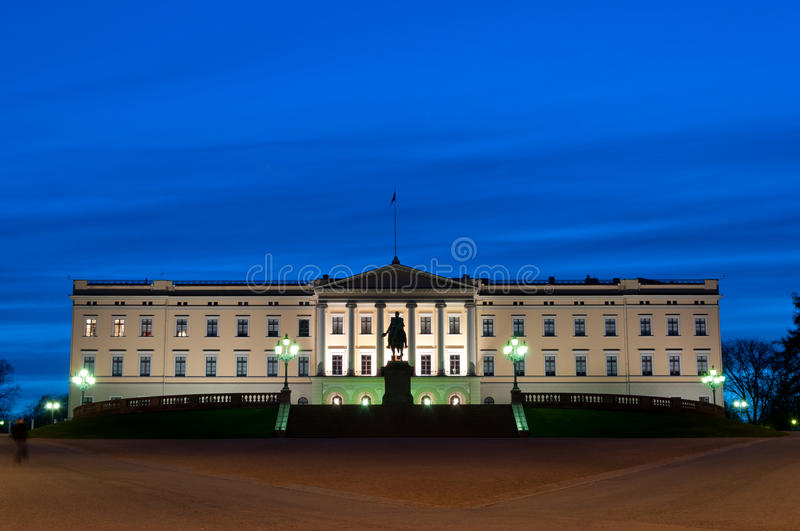 дворец Осло королевский стоковая фотография