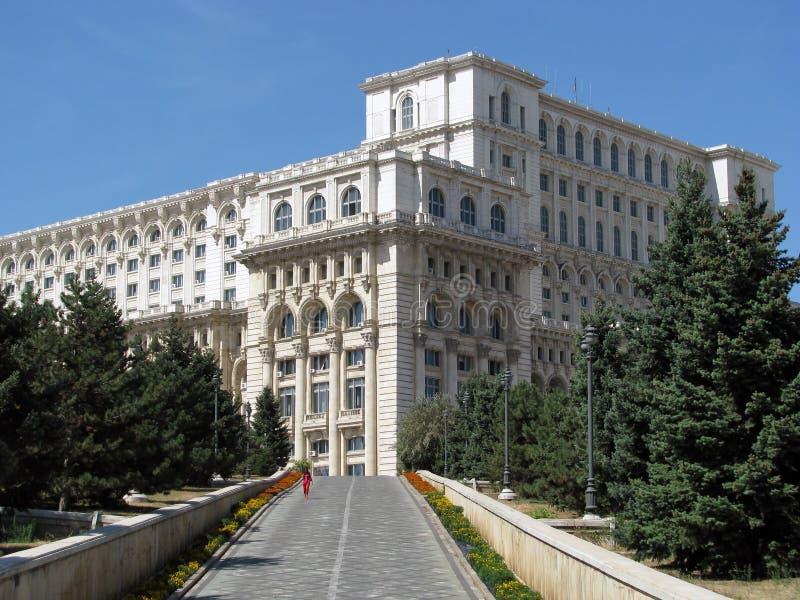 Дворец парламента (Бухарест, Румынии) стоковые изображения