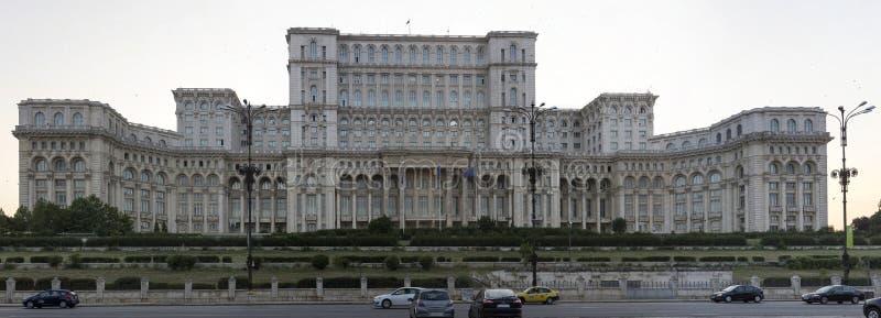 Дворец парламента в столице Румынии Бухареста стоковые изображения rf